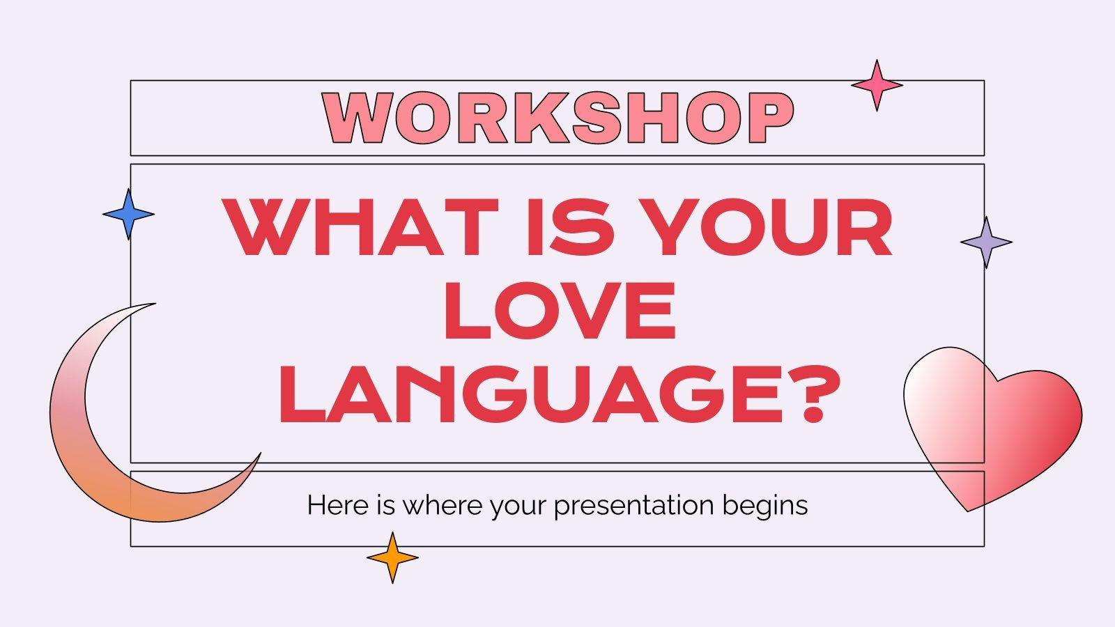 Modelo de apresentação Qual é a sua linguagem amorosa?