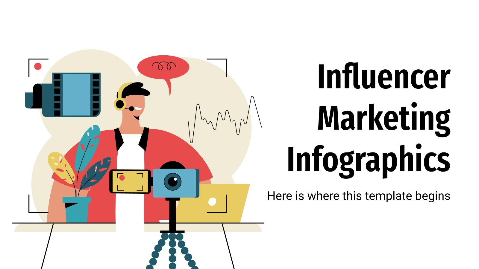 Modelo de apresentação Infográficos para o marketing de influência