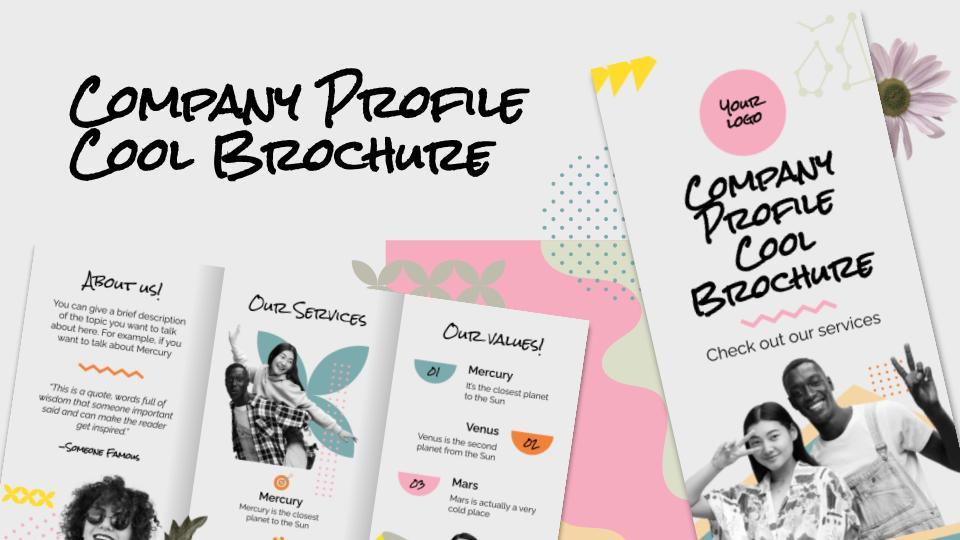Firmenprofil Coole Broschüre Präsentationsvorlage