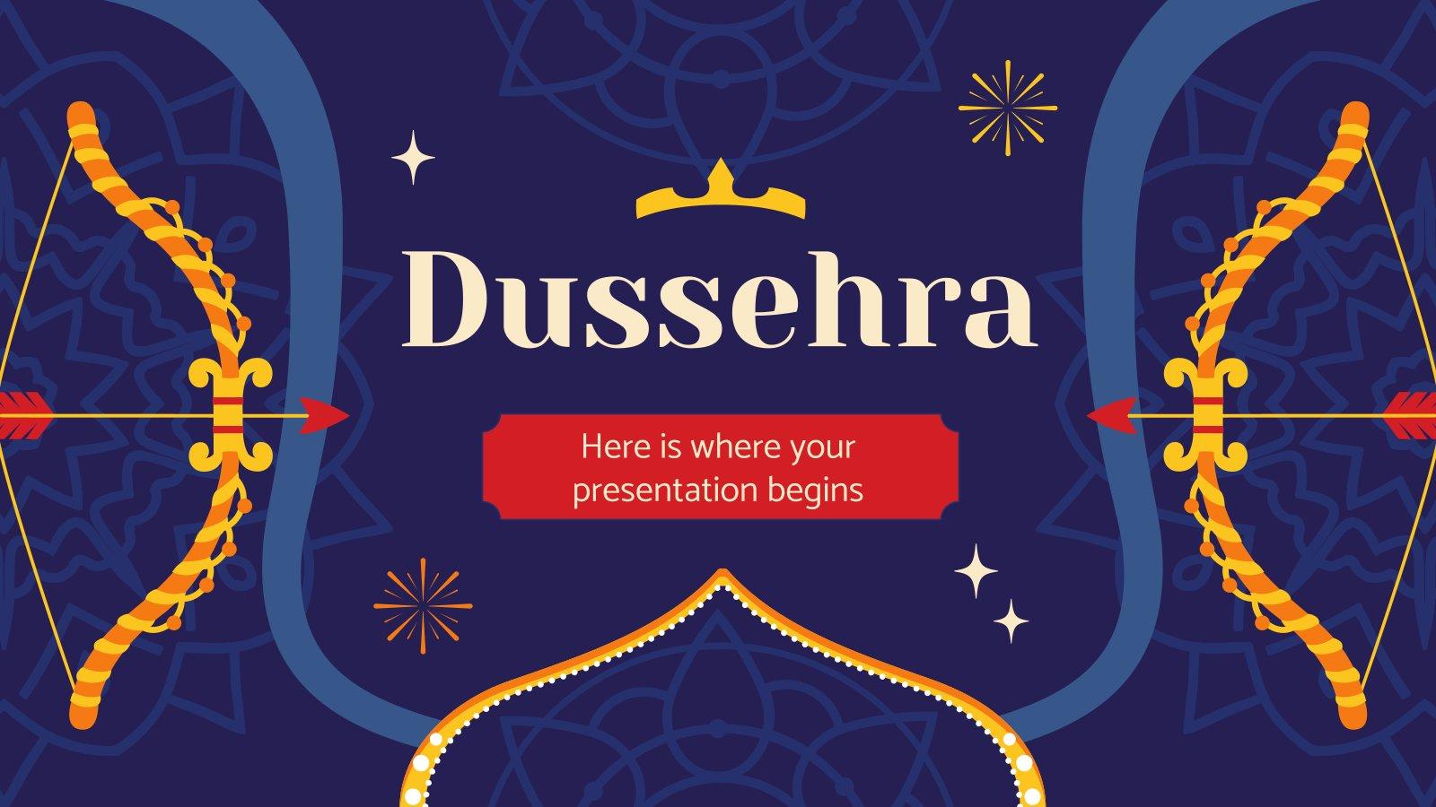 Dussehra presentation template