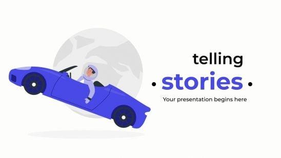 Modelo de apresentação Contando histórias