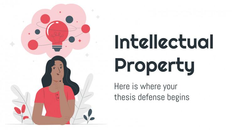 Plantilla de presentación Tesis sobre propiedad intelectual