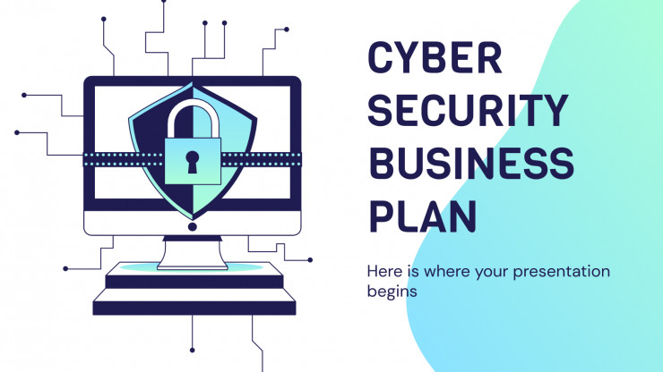 Cyber Security Business Plan presentation template