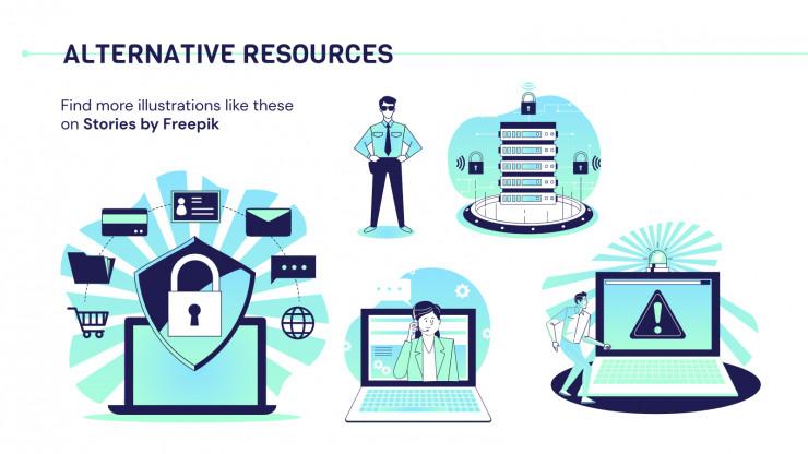 Plantilla de presentación Plan de negocios de ciberseguridad
