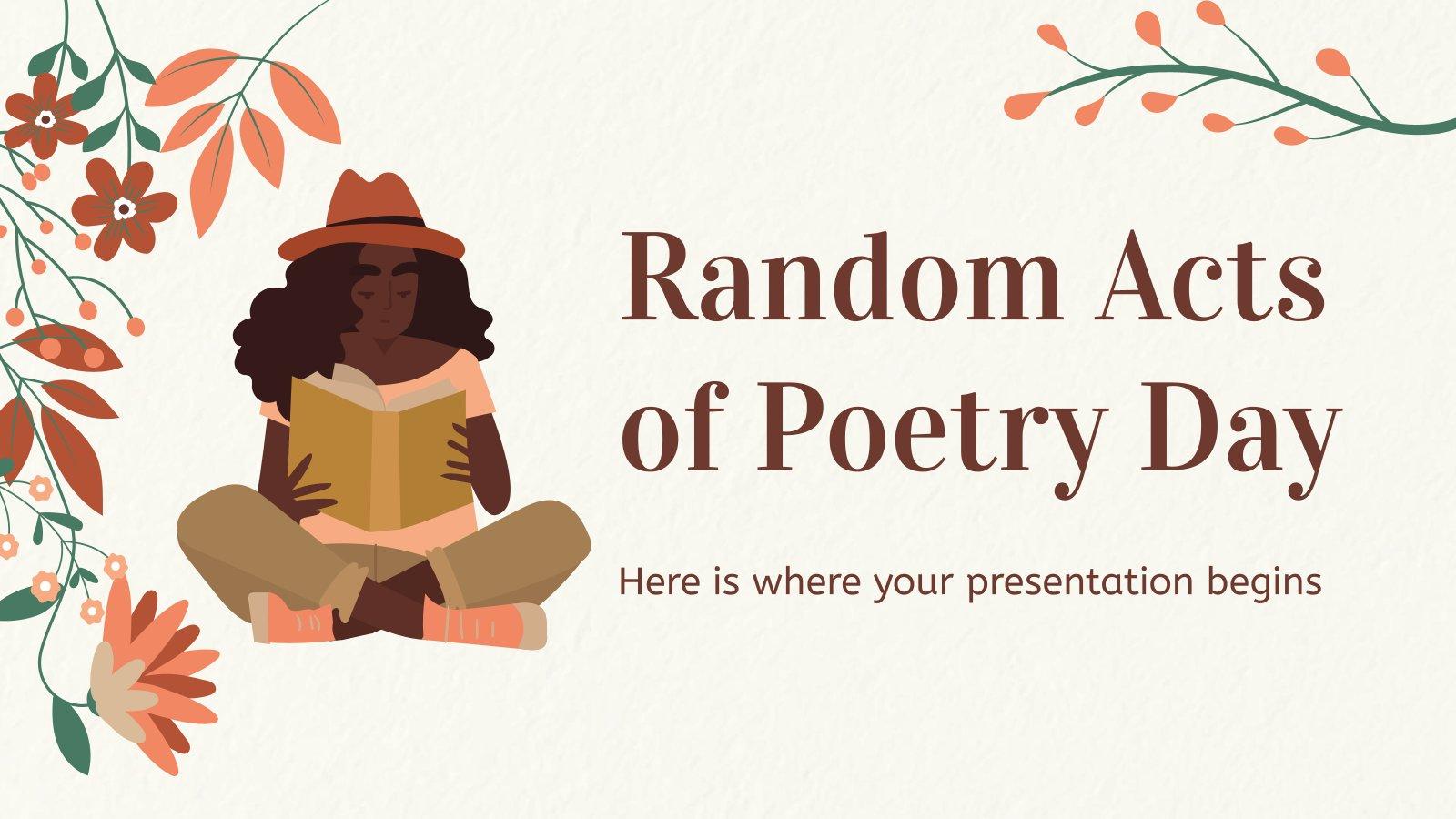 Plantilla de presentación Día de los Actos Aleatorios de Poesía
