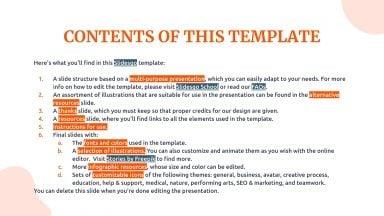 Vertex presentation template