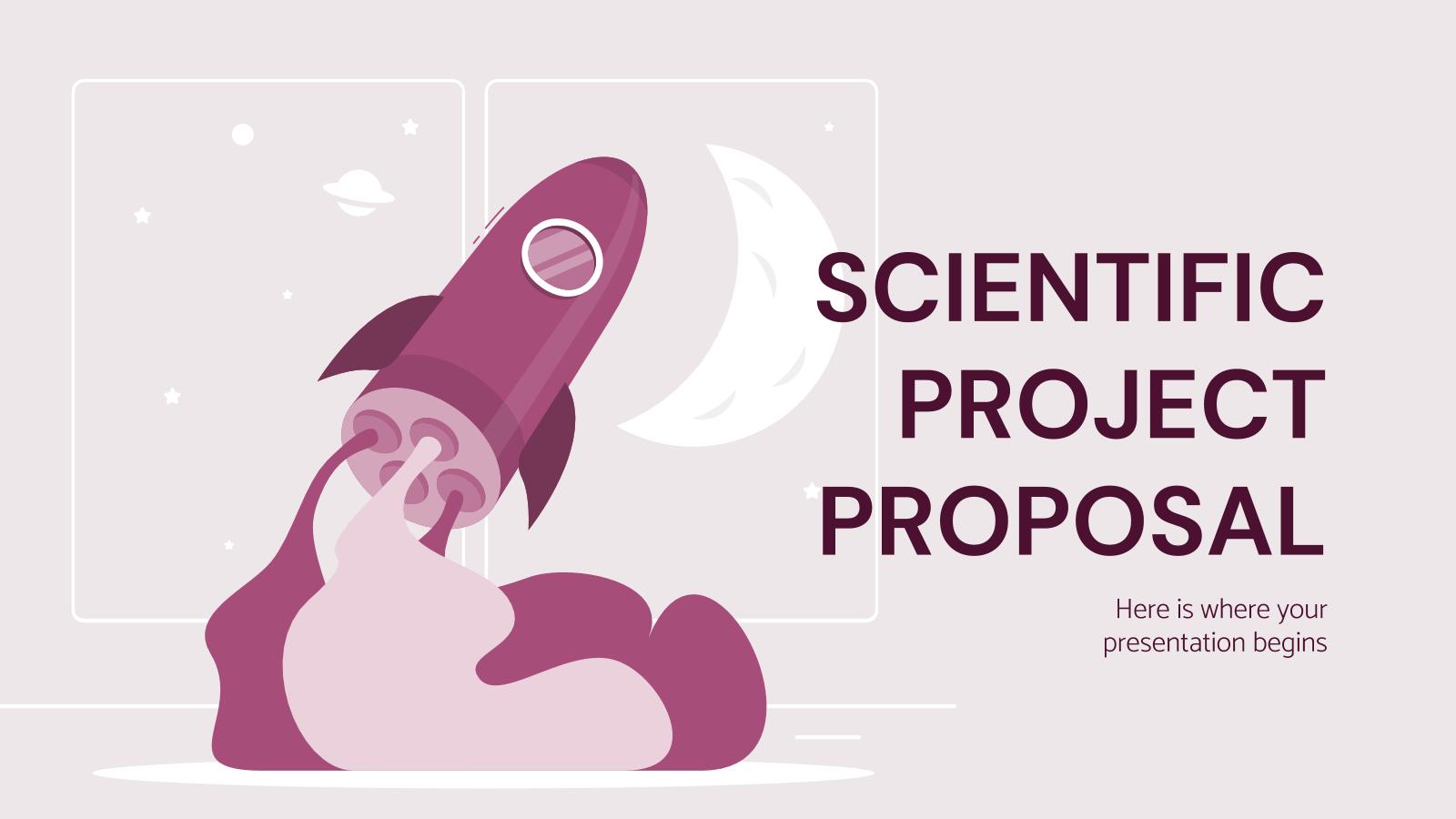 Proposition de projet scientifique : Modèles de présentation