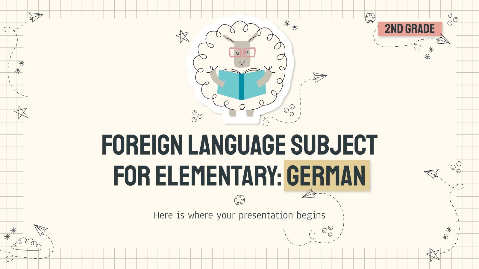 Plantilla de presentación Alemán para primaria