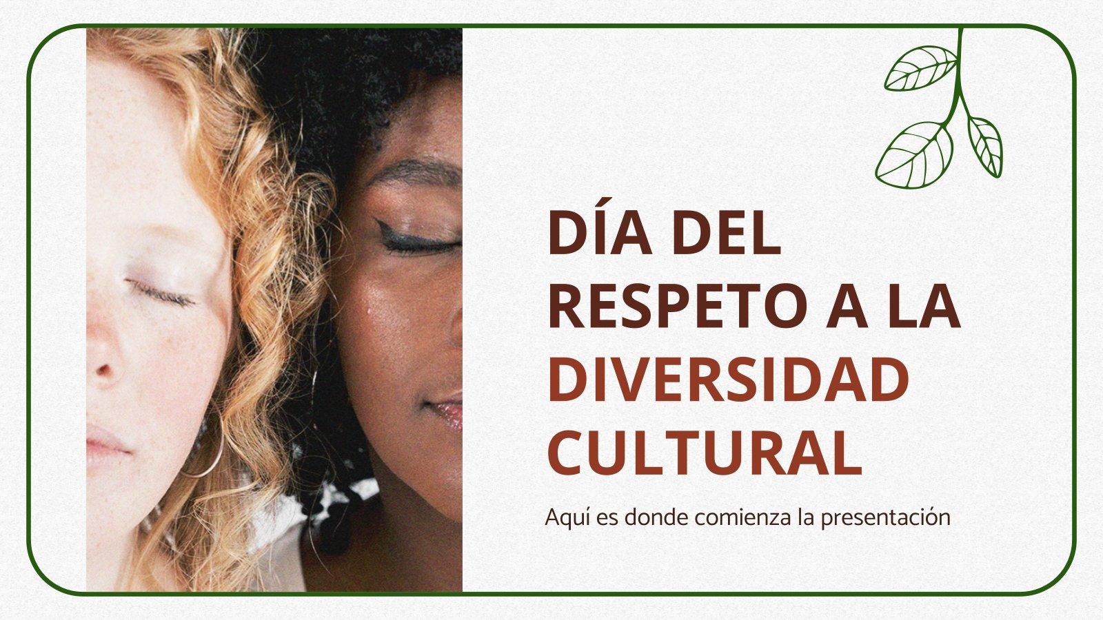 Journée du respect de la diversité culturelle : Modèles de présentation