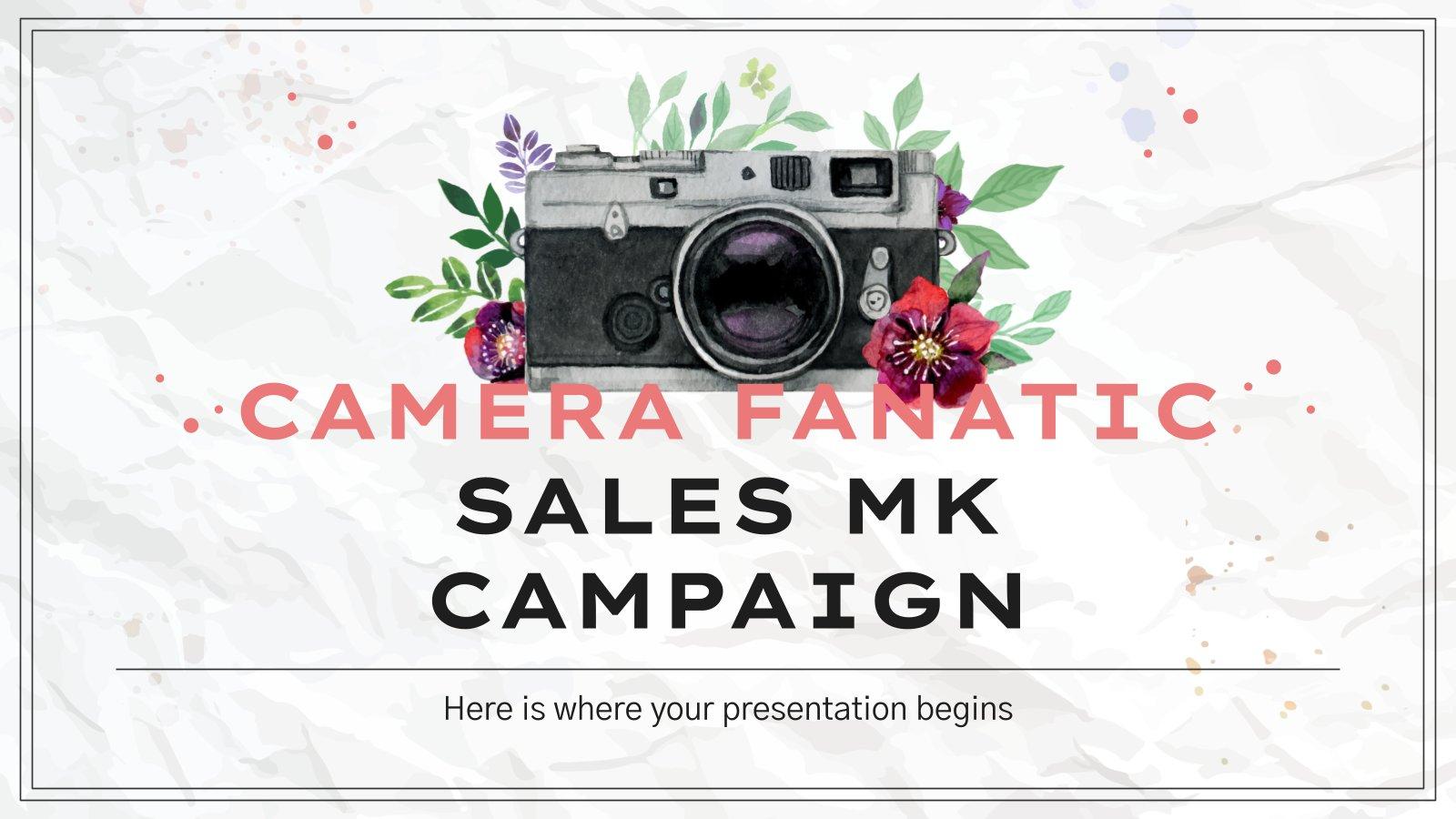 Campagne de marketing pour les fanatiques des appareils photo : Modèles de présentation
