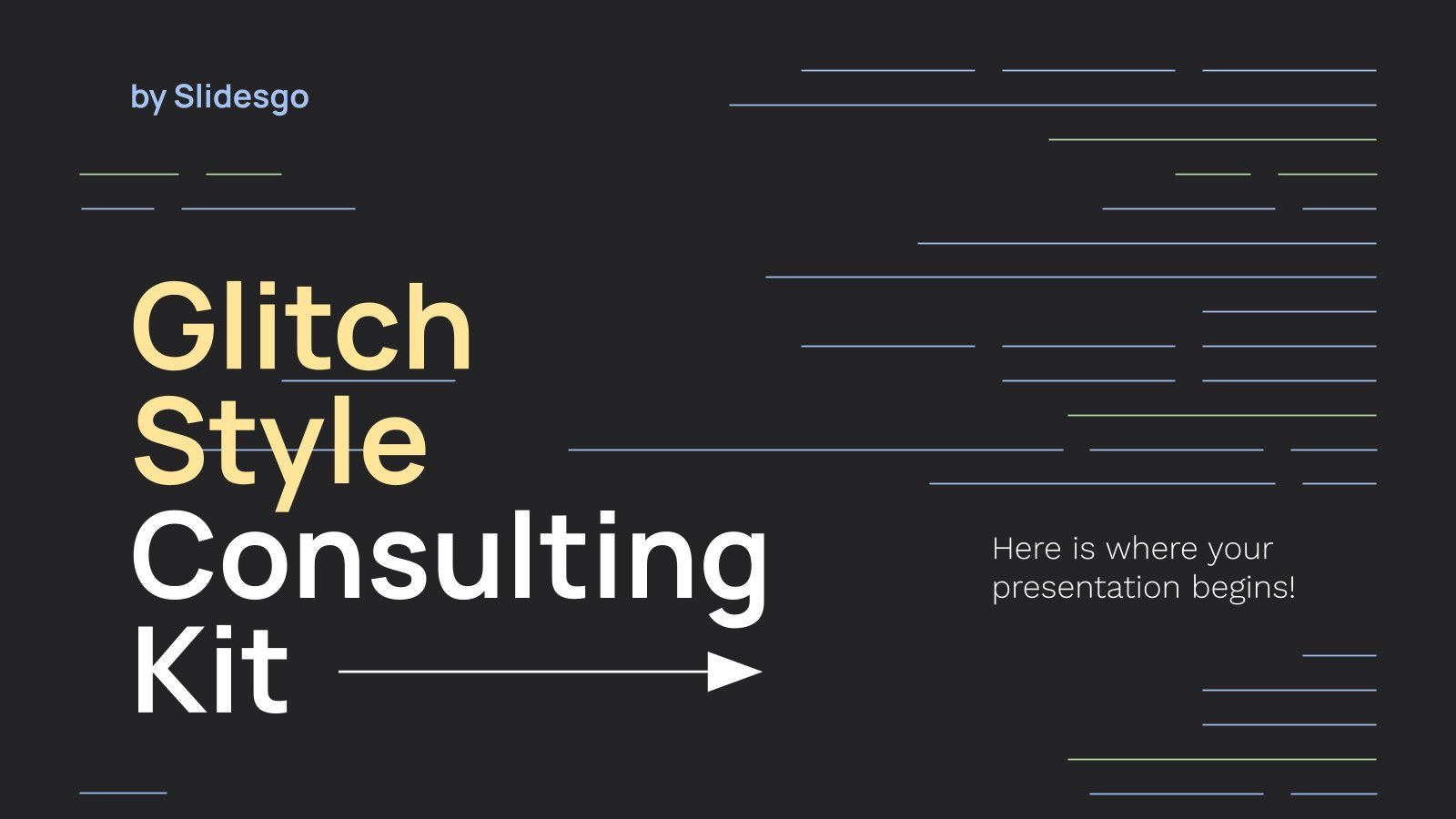 Glitch Style Consulting Kit presentation template