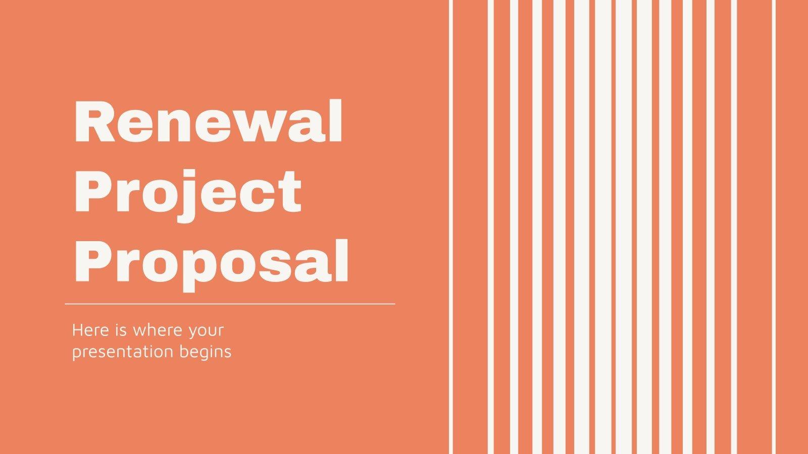 Modelo de apresentação Proposta de projeto de renovação