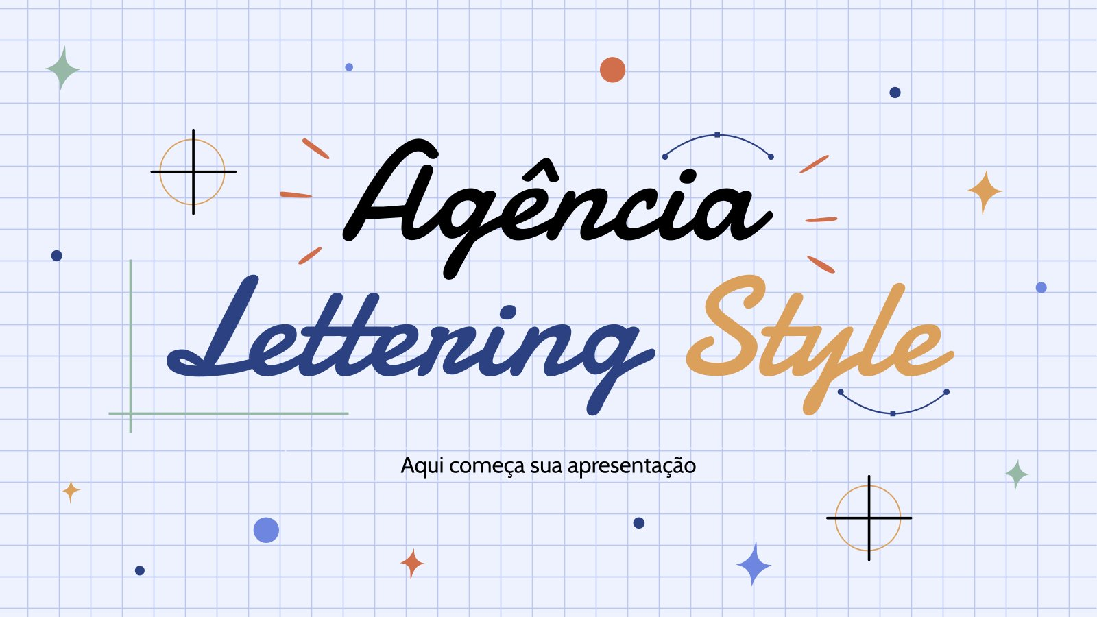 Agency: Lettering Style presentation template