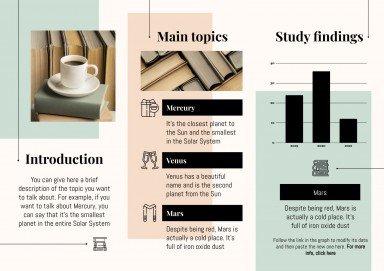 Formale und minimalistische Broschüre für Abschlussarbeiten Präsentationsvorlage