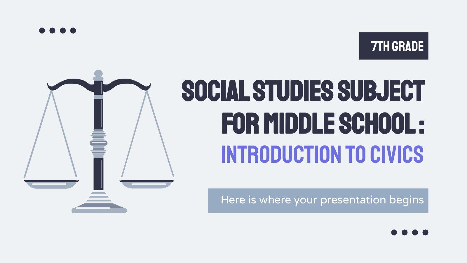 Plantilla de presentación Sociales para secundaria: Educación Cívica