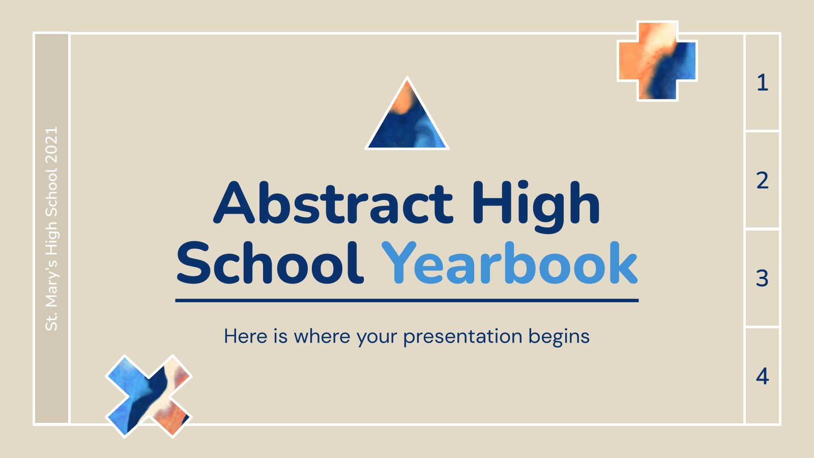 Modelo de apresentação Anuário escolar abstrato
