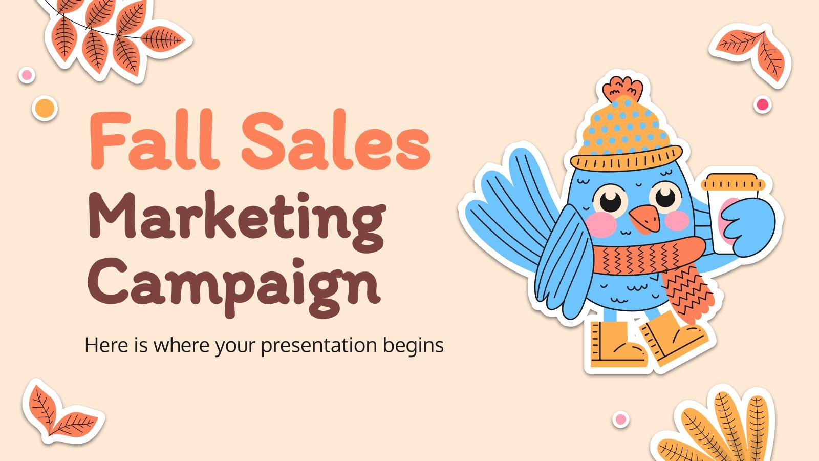 Plantilla de presentación Campaña de márketing otoñal
