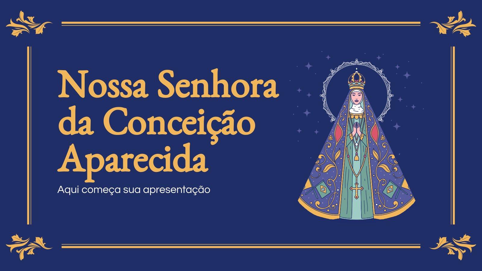 Our Lady of Aparecida presentation template
