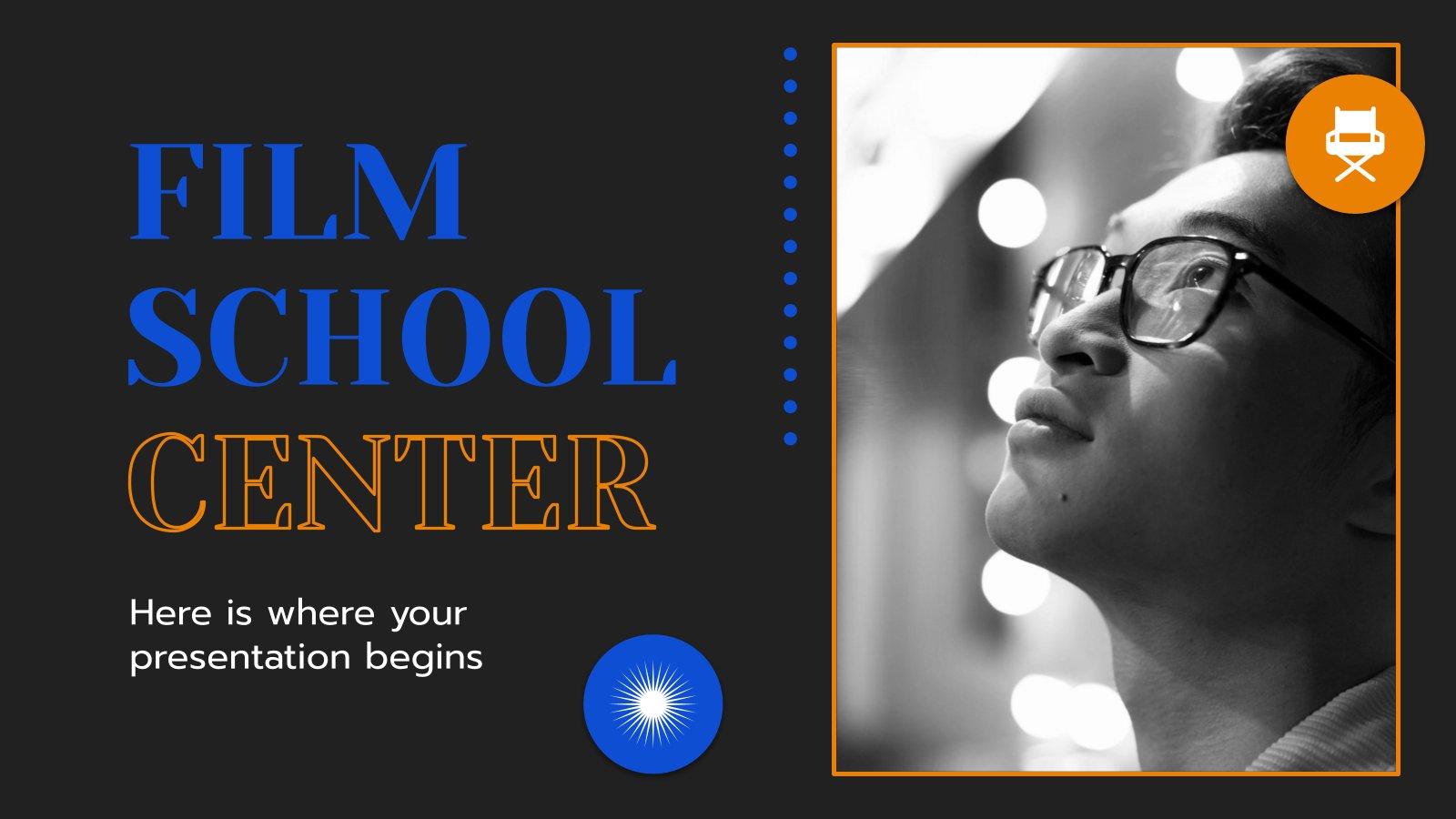 Film School Center presentation template
