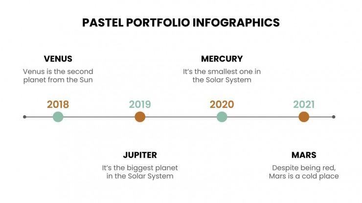 Pastell Portfolio Infografiken Präsentationsvorlage