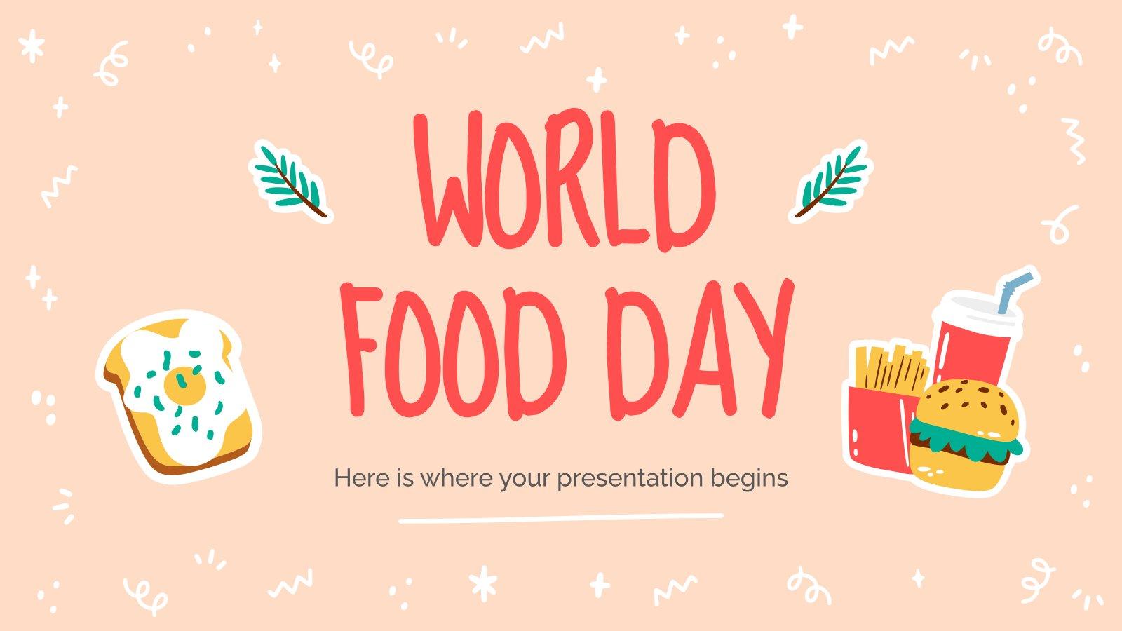 Welternährungstag Präsentationsvorlage