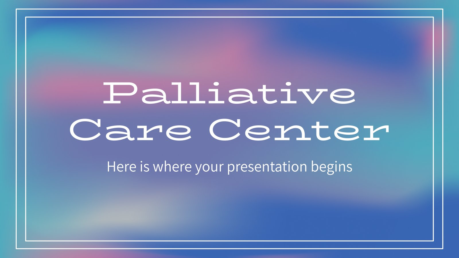 Palliative Care Center presentation template