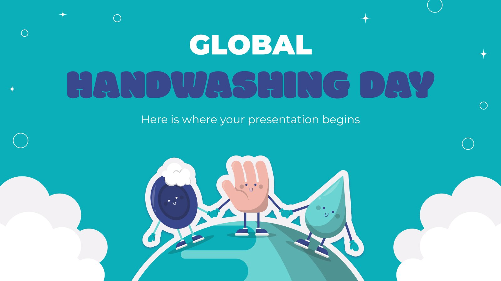 Plantilla de presentación Día Mundial del Lavado de Manos
