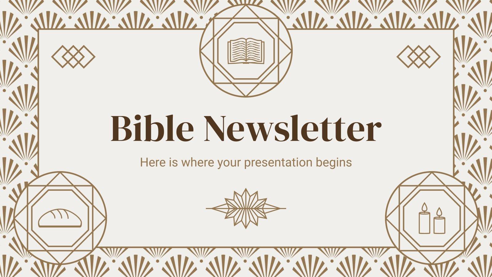 Bibel Newsletter Präsentationsvorlage