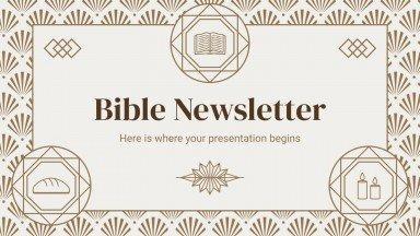 Plantilla de presentación Newsletter Biblia