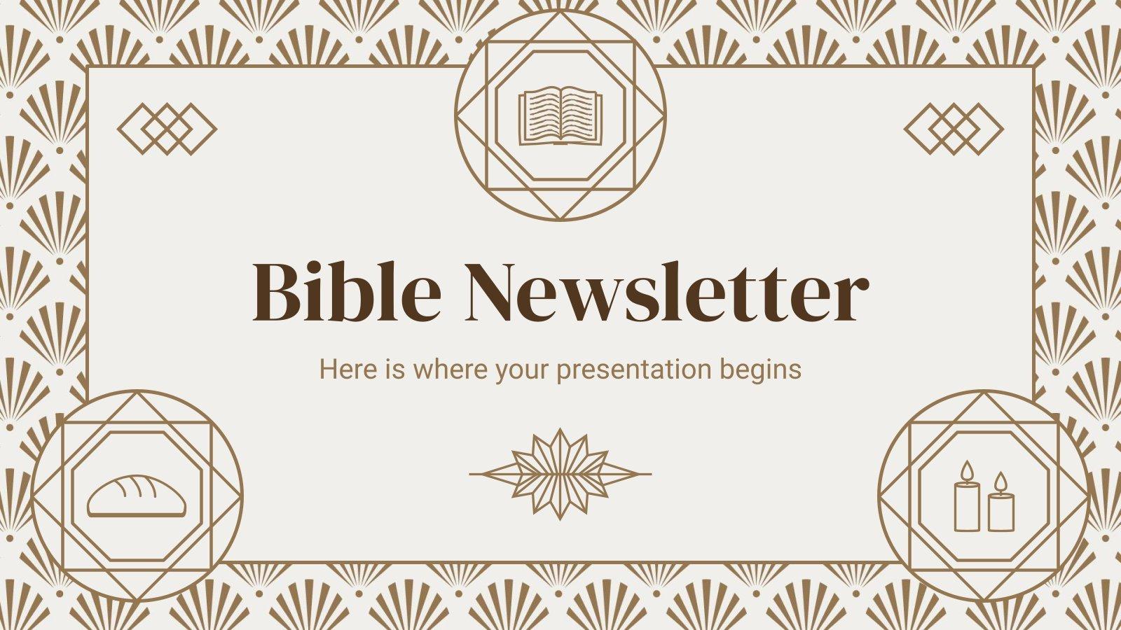 Newletter Bible : Modèles de présentation