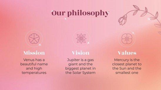 Réunion d'affaires esthétique en or rose : Modèles de présentation
