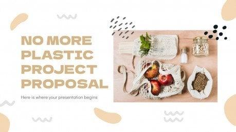 No More Plastic Project Proposal presentation template
