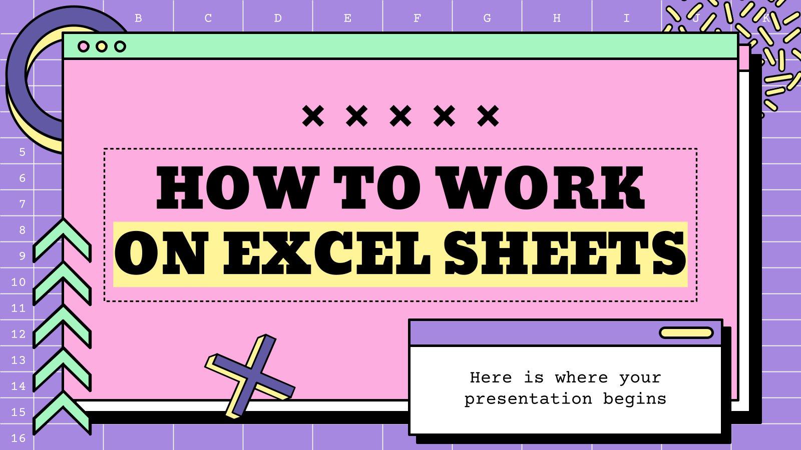 Plantilla de presentación Taller sobre cómo usar Excel