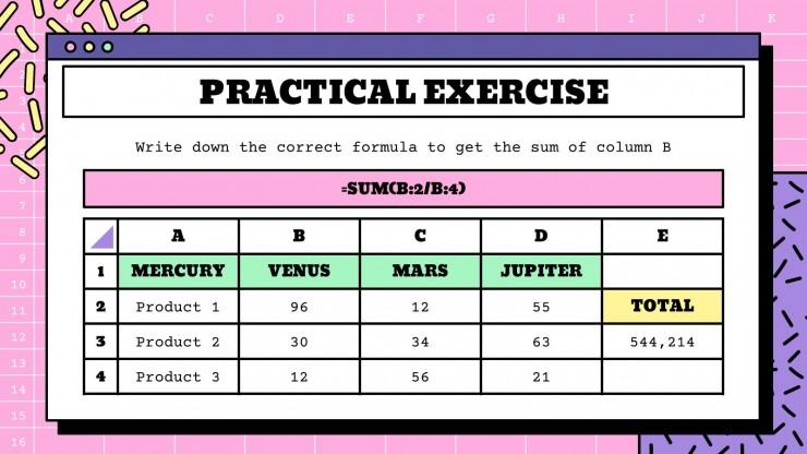 Atelier sur l'utilisation d'Excel : Modèles de présentation