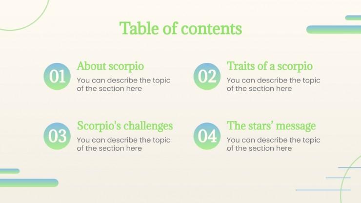 Plantilla de presentación Signo del zodiaco: Escorpio