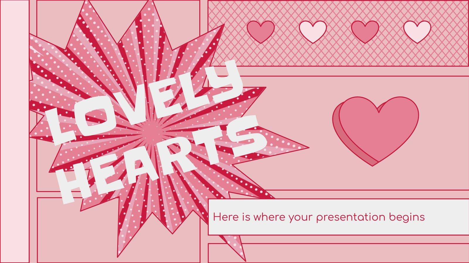 Modelo de apresentação Kit de ferramentas de consultoria: Corações adoráveis