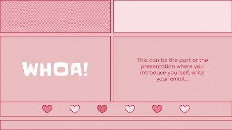 Plantilla de presentación Kit de consultoría con adorables corazones