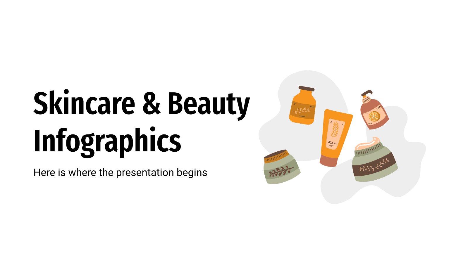 Infographies sur le soin de la peau : Modèles de présentation
