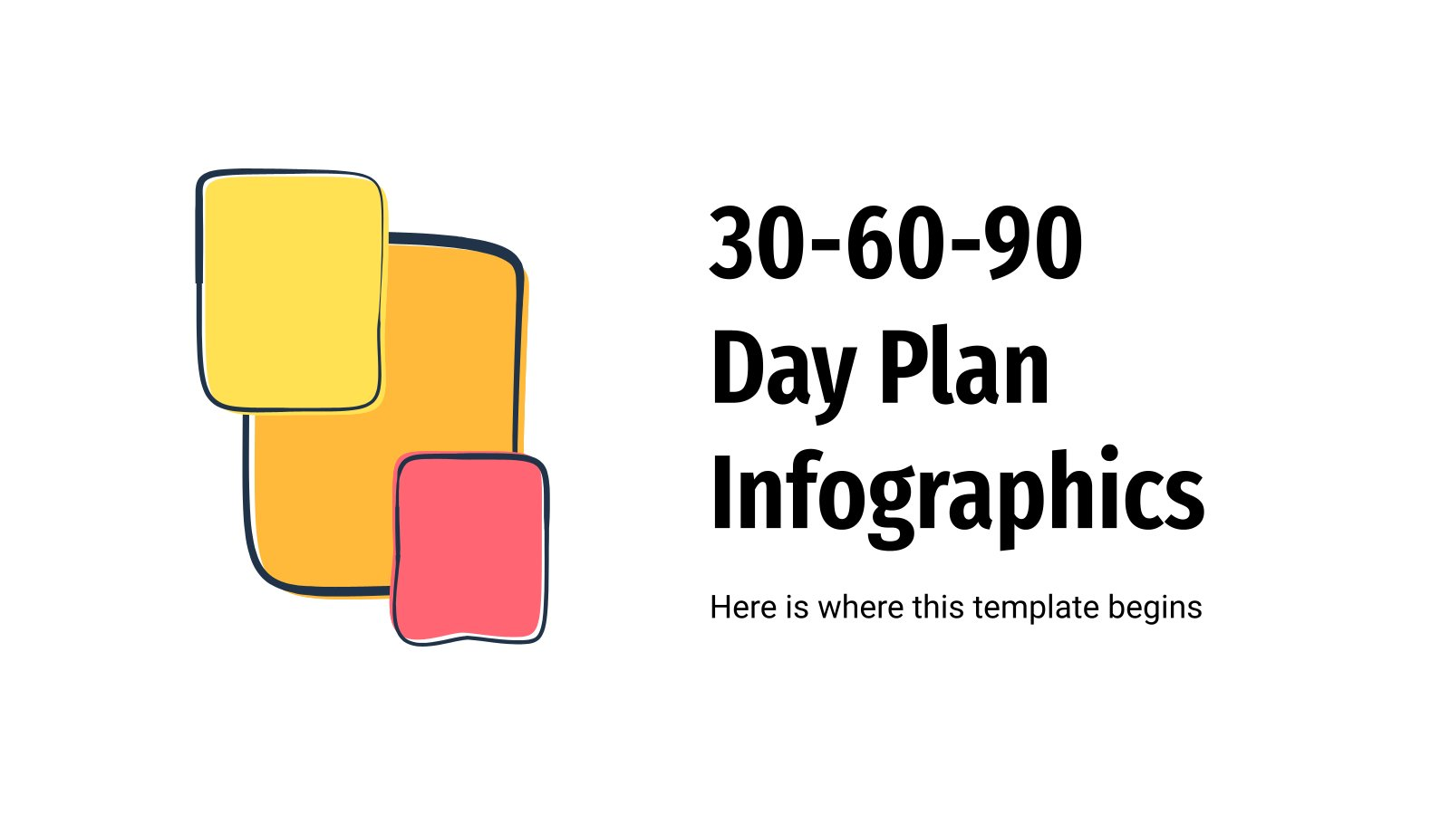 30-60-90 Plan Infografiken Präsentationsvorlage