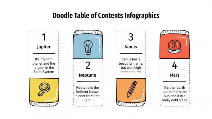 Infographies de table des matières doodle : Modèles de présentation