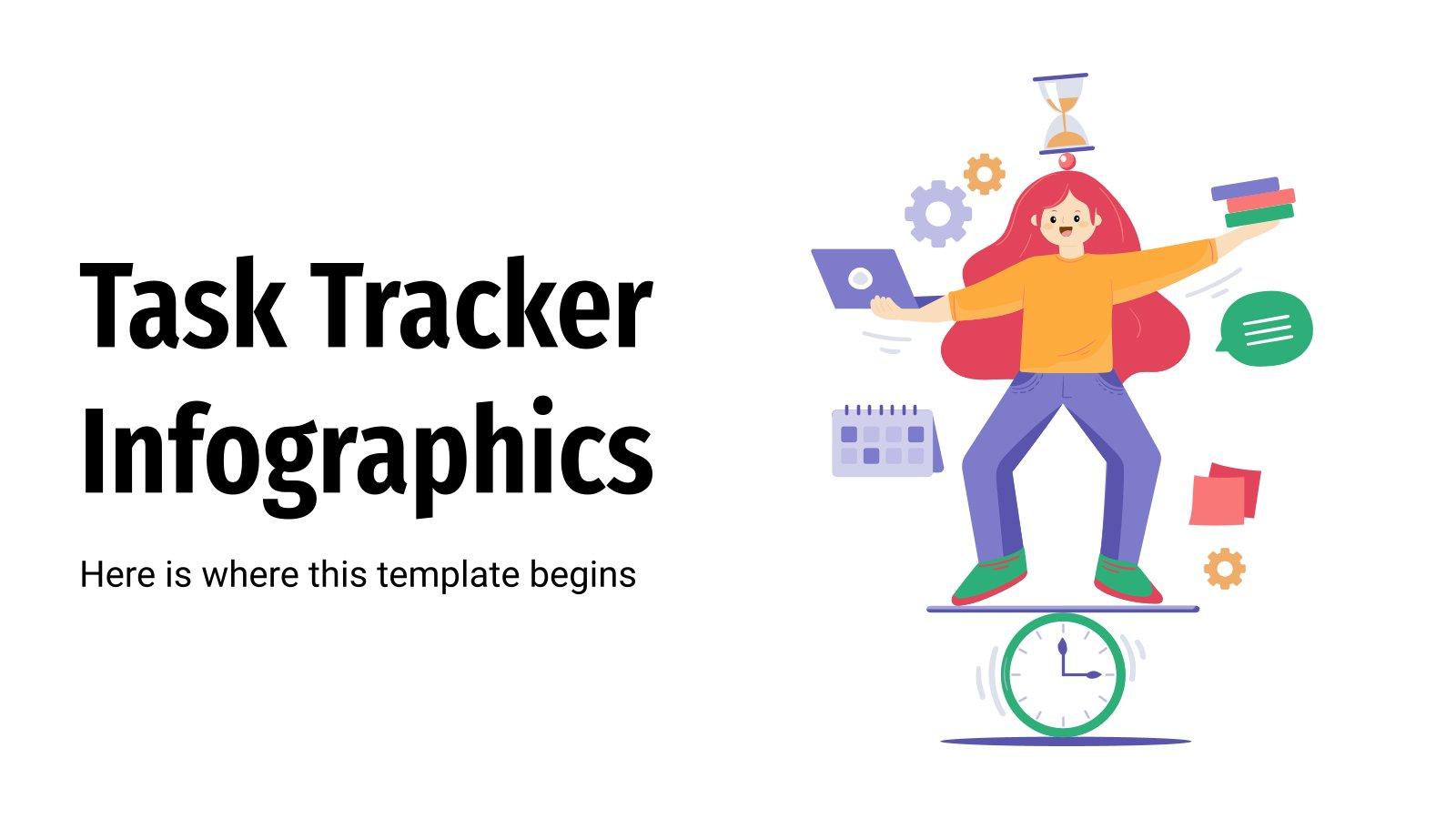Infographies de contrôle des tâches : Modèles de présentation