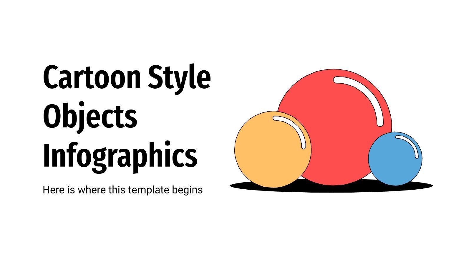 Modelo de apresentação Infográficos em estilo cartoon