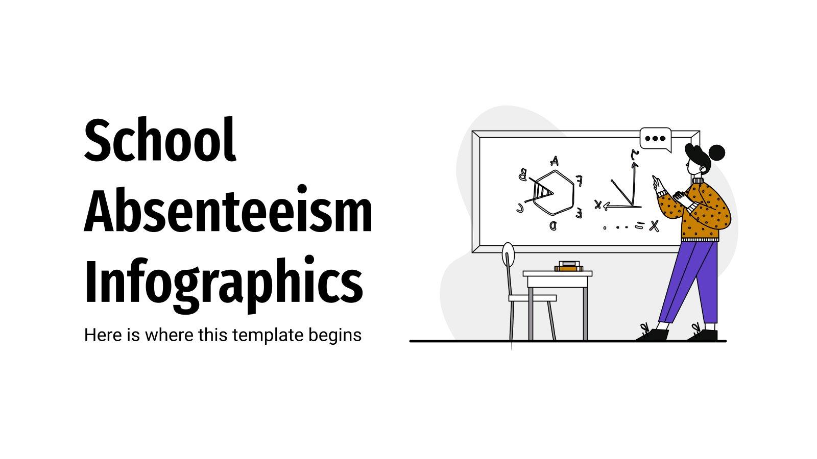 Infographies sur l'absentéisme scolaire : Modèles de présentation