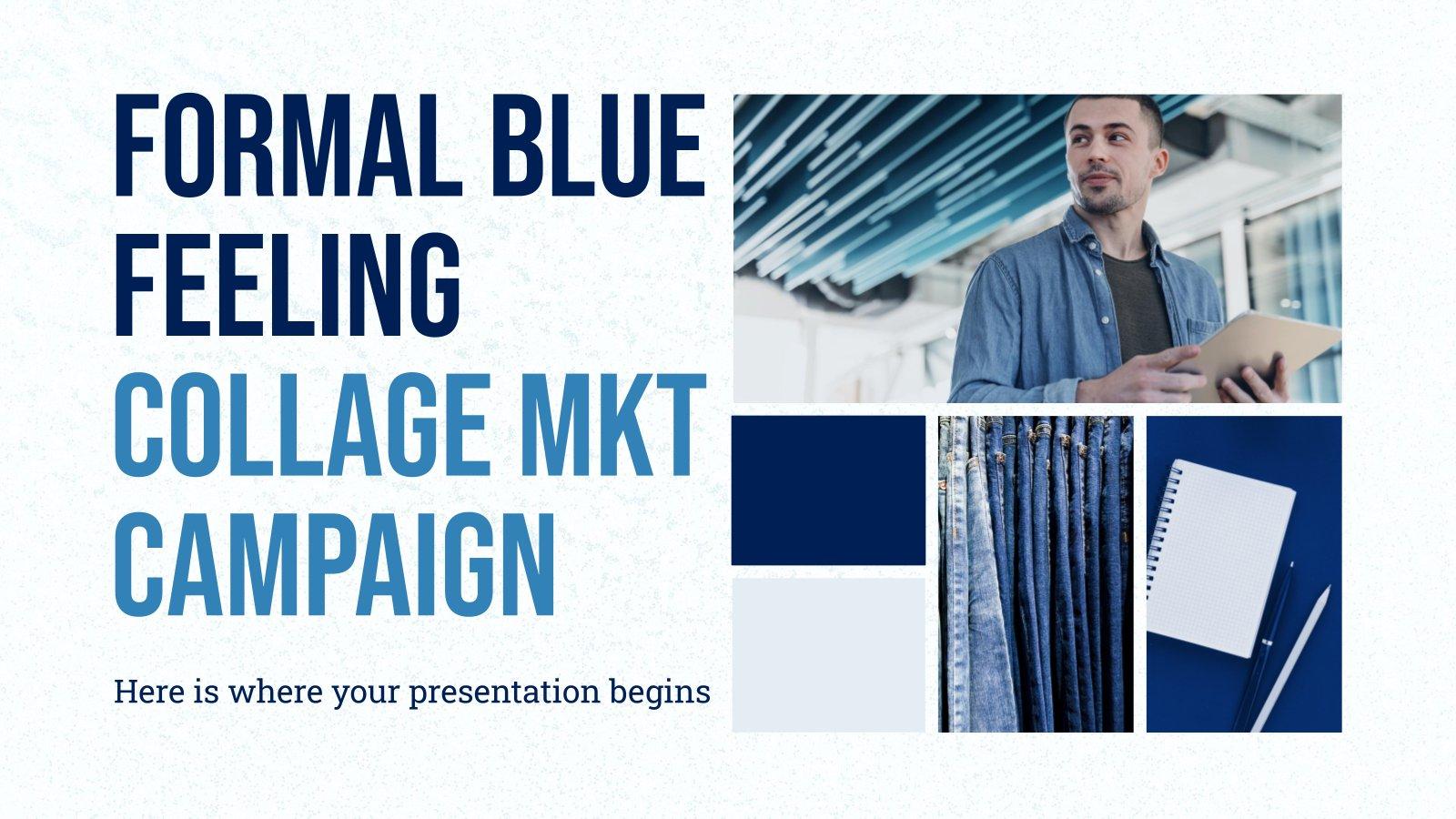 Modelo de apresentação Campanha de marketing formal azul