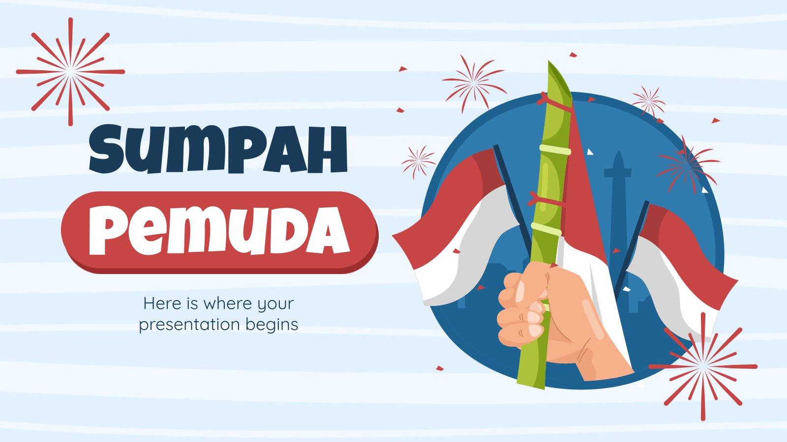 Plantilla de presentación Sumpah Pemuda