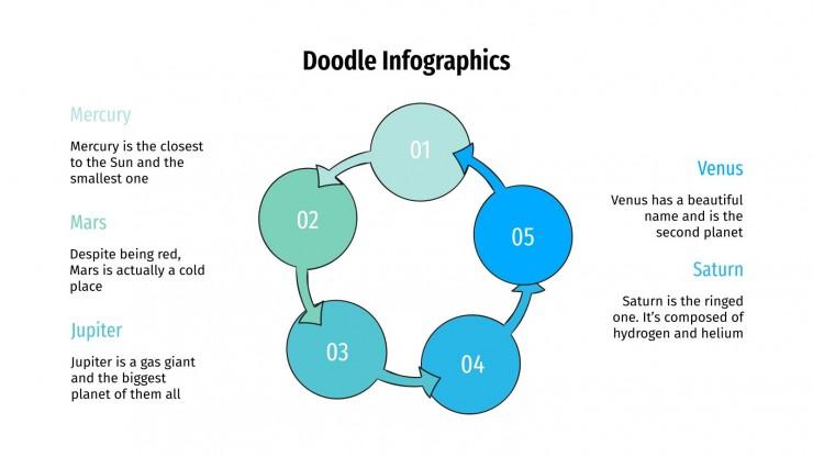 Plantilla de presentación Infografías con doodles