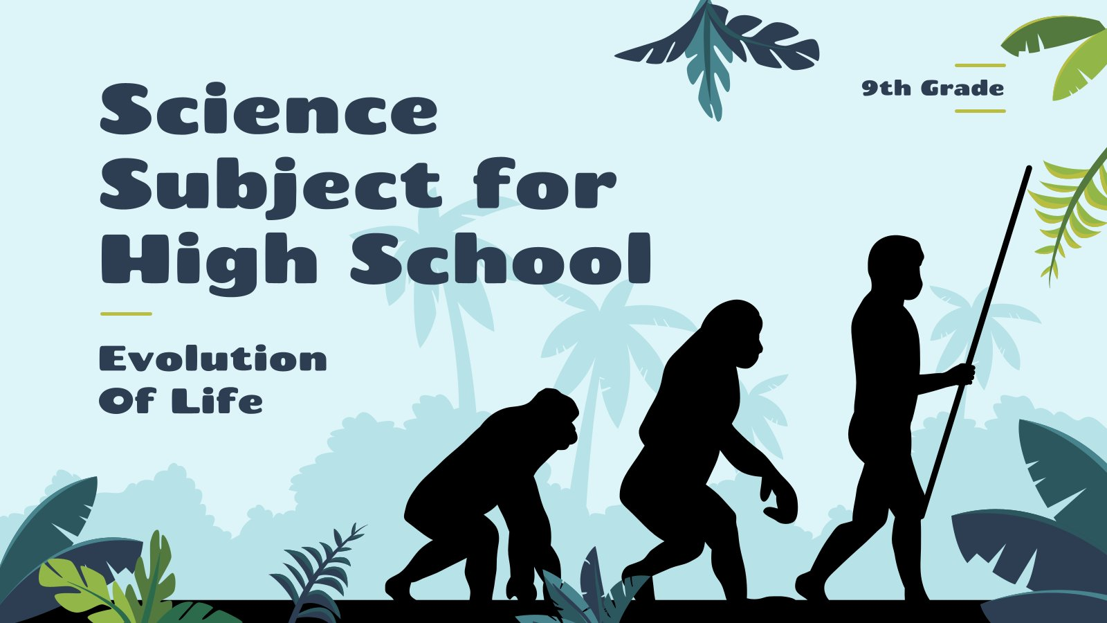 L'évolution humaine pour l'école secondaire : Modèles de présentation