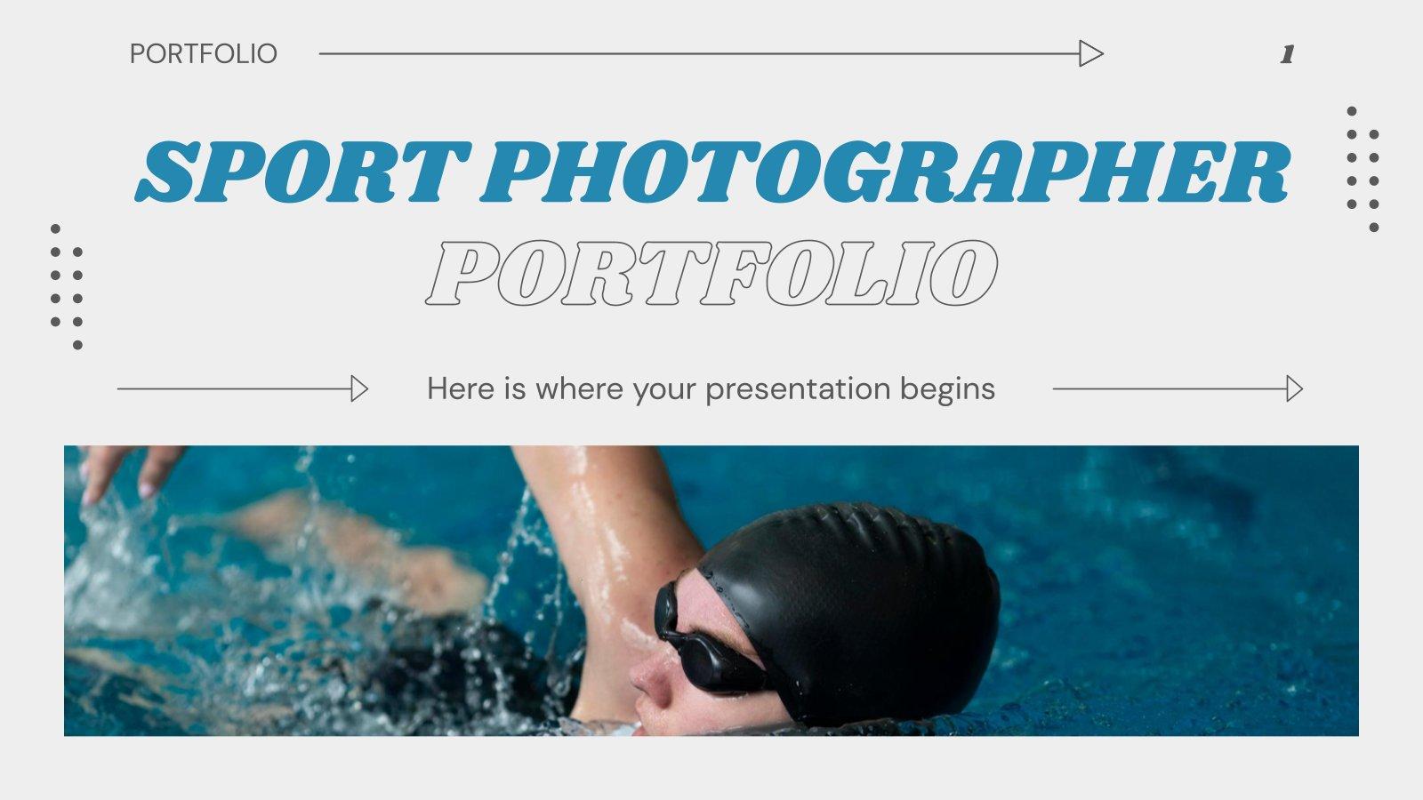 Modelo de apresentação Portfólio de fotógrafo esportivo