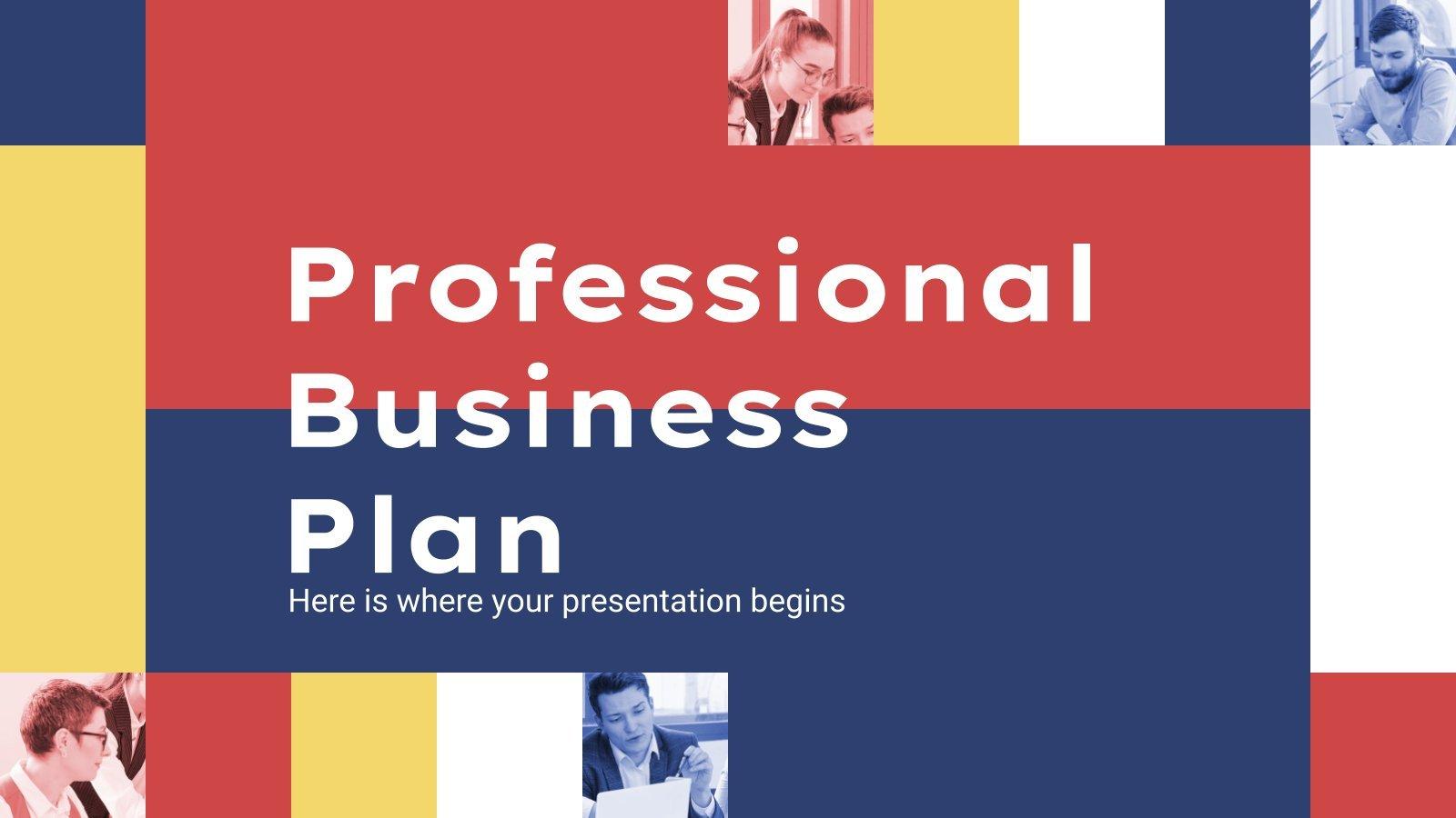 Professional Business Plan presentation template