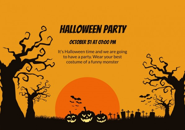 Plantilla de presentación Invitaciones para fiestas de Halloween